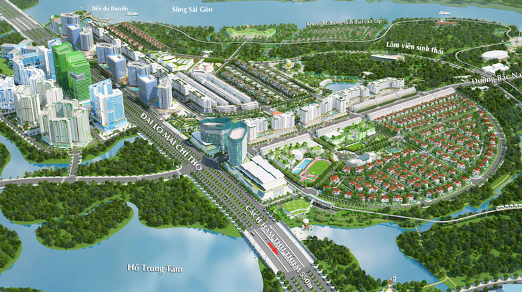 xung quanh du an eco smart city