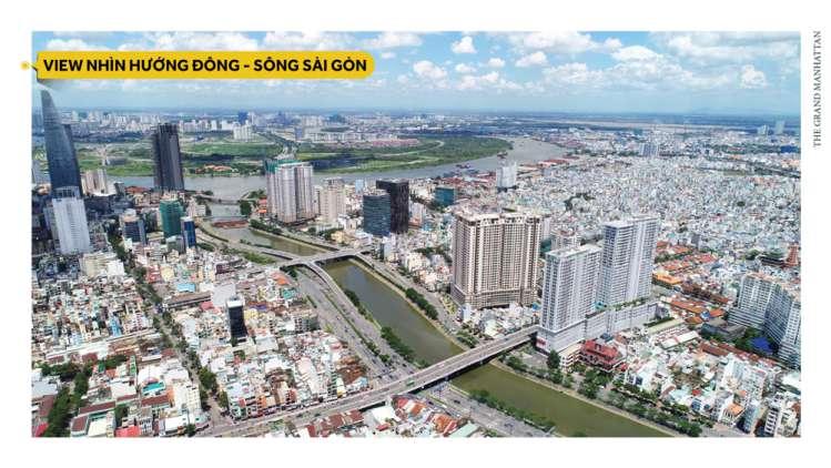 view huong dong du an the grand manhattan