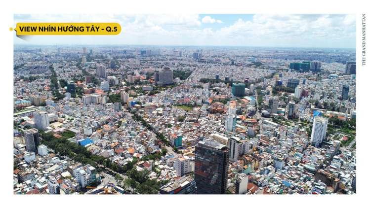 view huong tay du an the grand manhattan
