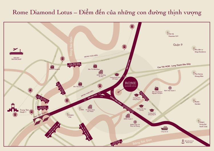 vi tri du an rome diamond lotus