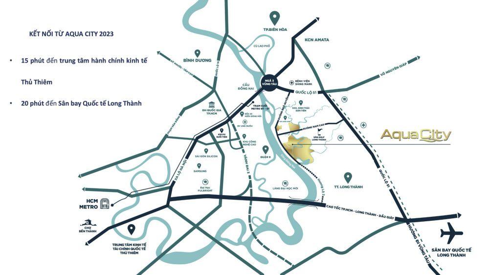 giao thong ha tang aqua city nam 2023
