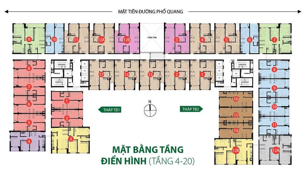 mat bang tang du an an the botanica