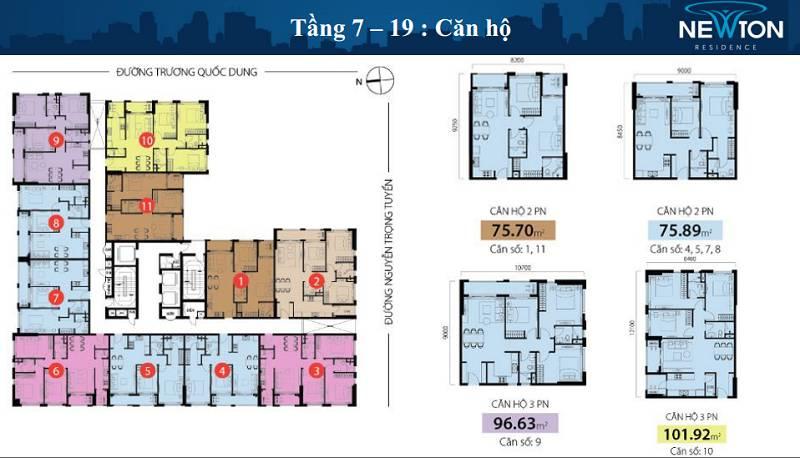 mat bang tang du an newton residence