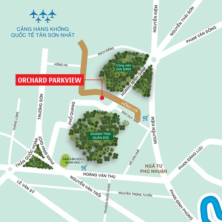 vi tri du an can ho orchard parkview novaland