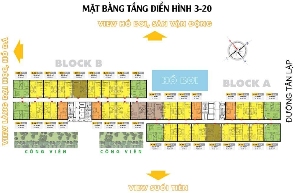 mat bang tang du an lake view residences