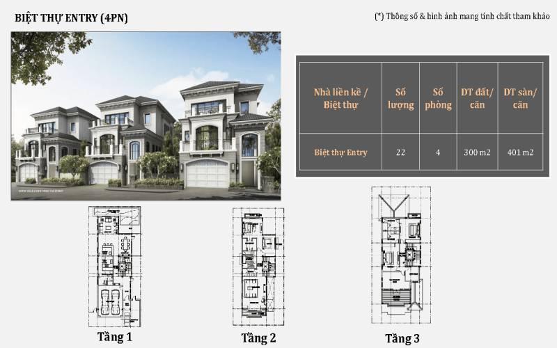mat bang biet thu 4 phong ngu grand bay ha long villas