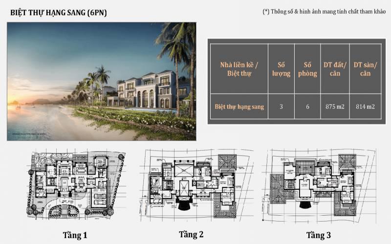 mat bang biet thu 6 phong ngu grand bay ha long villas