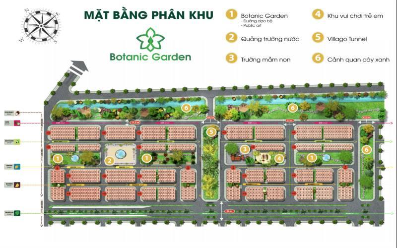 mat bang phan khu botanic garden