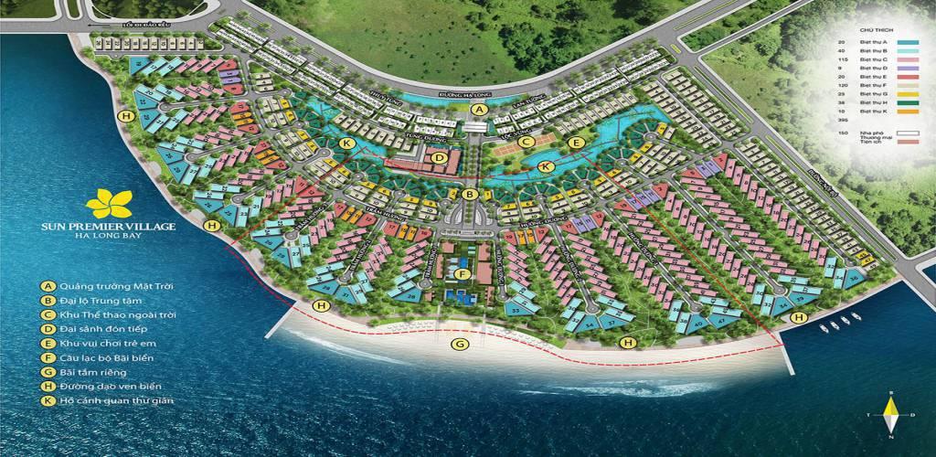 mat bang tong the sun premier village ha long