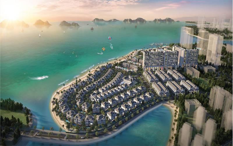 phoi canh du an grand bay ha long villas