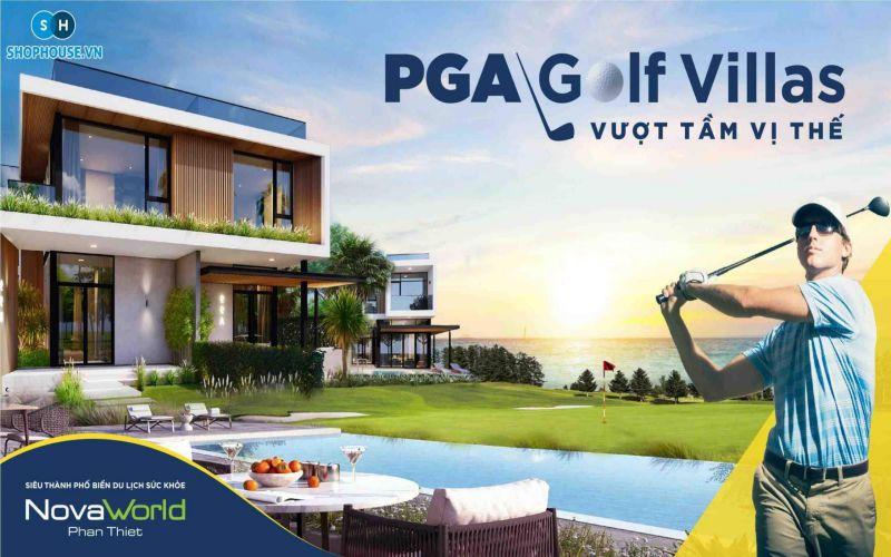 phoi canh pga golf villas