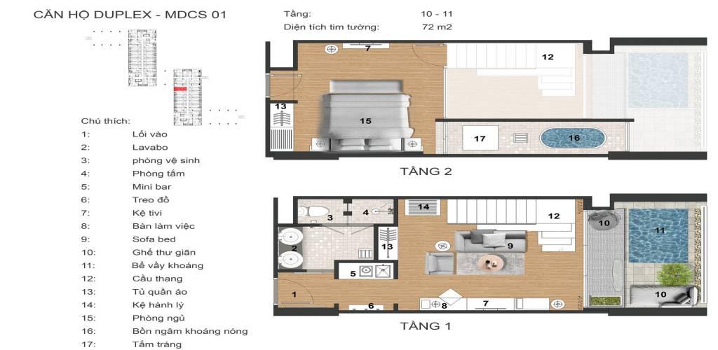 mat bang duplex apec mandala sky villas kim boi