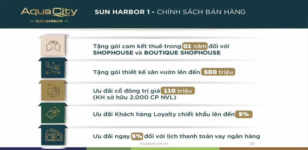 chinh sach ban hang aqua city sun harbor 1
