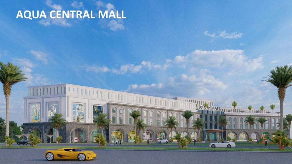 trung tam thuong mai aqua central mall tai the suite aqua city