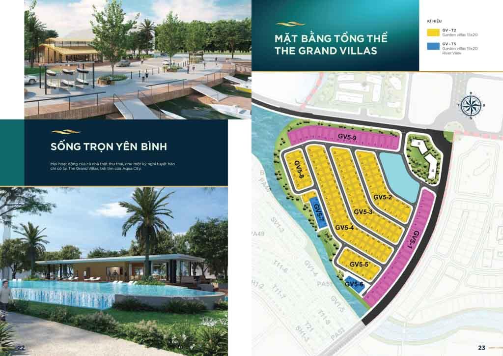 mat bang the grand villas aqua city