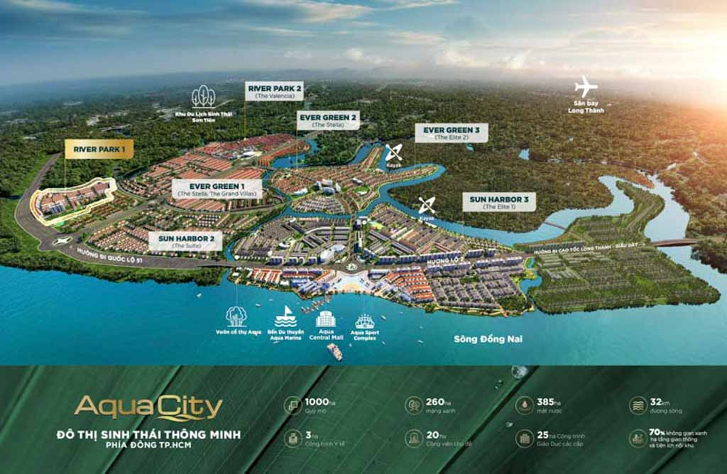 vi tri river park 1 trong aqua city