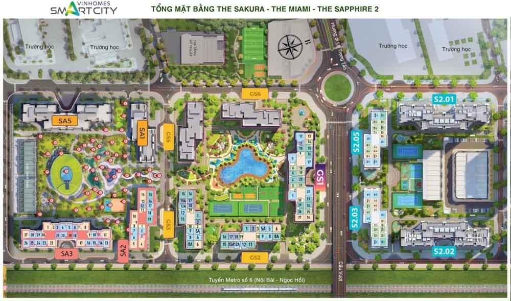 mat bang phan khu du an vinhomes smart city