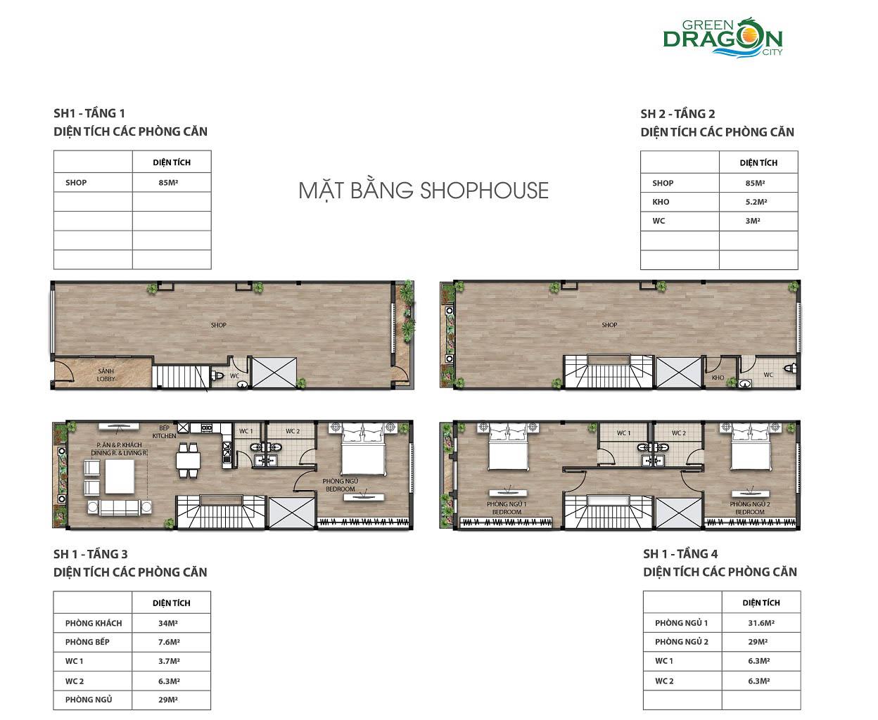 mat bang shophouse gia ban green dragon city