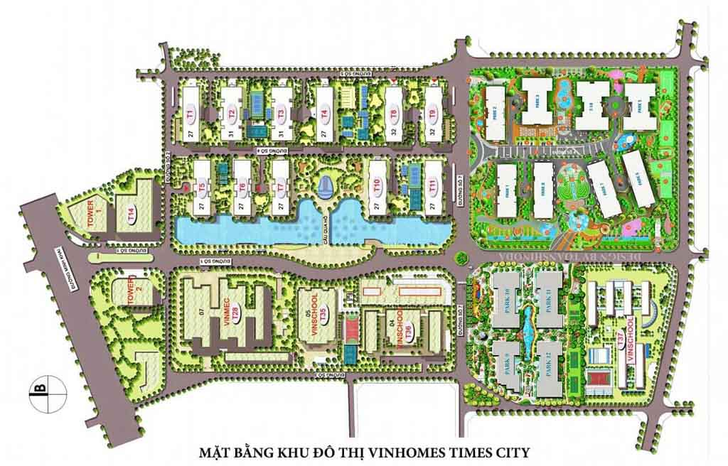 mat bang tong the times city