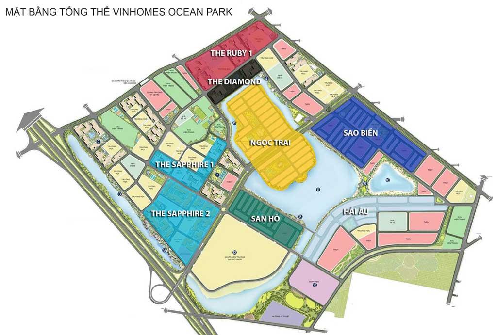 vi tri phan khu co nen mua sapphire 1 vinhomes ocean park