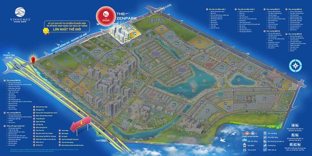vi tri the zenpark vinhomes ocean park